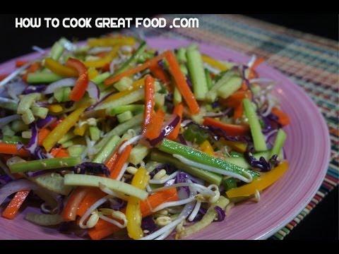 Chinese Salad – Easy Vegan Chinese Salad – Crispy Asian Sesame Salad Recipe