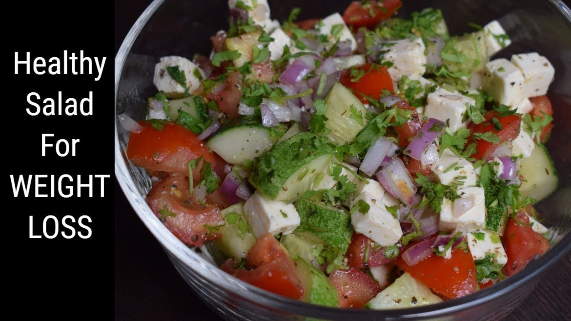Healthy Salad for Weight Loss   Easy Diet Recipe   Flavours Of Food