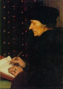 Erasmo de Roterdão, pintado por Hans Holbein, o Jovem