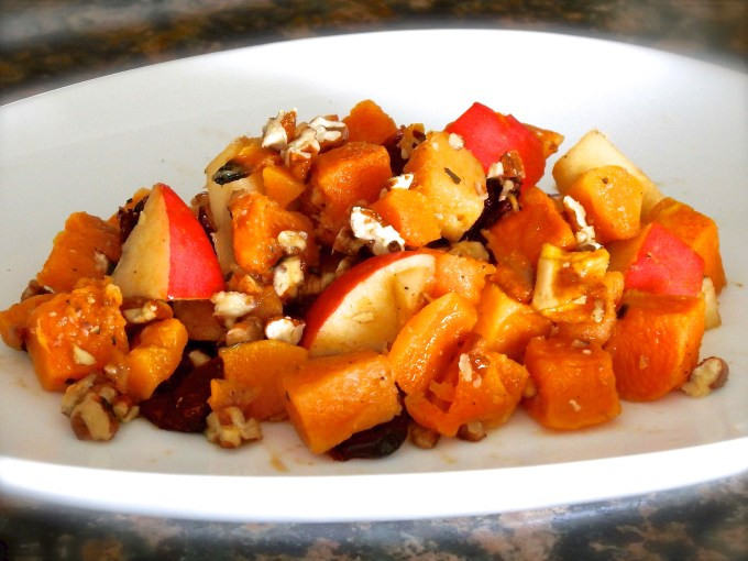 Butternut Squash, Apples & Candied Pecans
