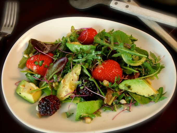 Baby Lettuces, Berries & Avocado With Gorgonzola Dressing