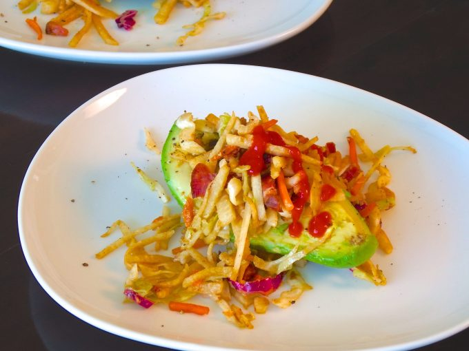 Spicy Jicama Slaw Salad With Avocado