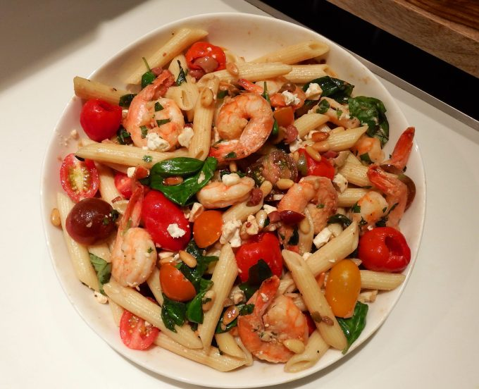 Pasta Salad With Olive-Basil Blast Dressing