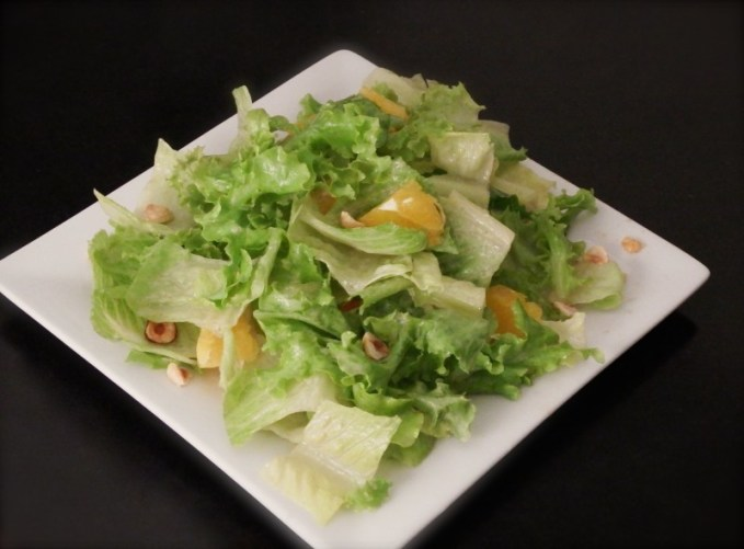 Mixed Lettuces with Hazelnuts, Oranges, & Classic Blue Cheese Dressing