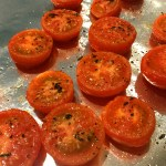 Roasted Tomato Salad With Polenta & Goat Cheese