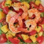 Nani shrimp salad with herbs