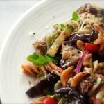 Fusilli With Eggplant & Sun Dried Tomato Dressing
