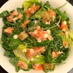 salmon salad with ginger orange dressing