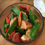 This salad can be made ahead and refrigerated. Simply adjust the salt & pepper before serving.