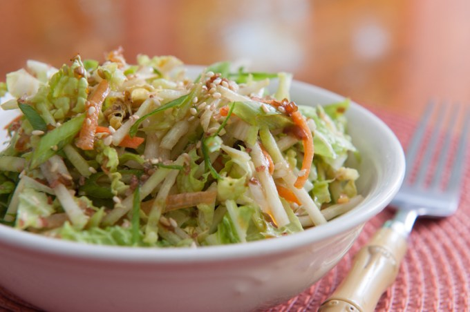 Hawaiian Style Coleslaw with Ginger Orange Dressing