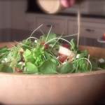 Watercress and Baby Lettuces with Salty Croutons & Herbaceous Blue Cheese Dressing