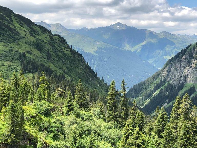 Blick Tal Montafon