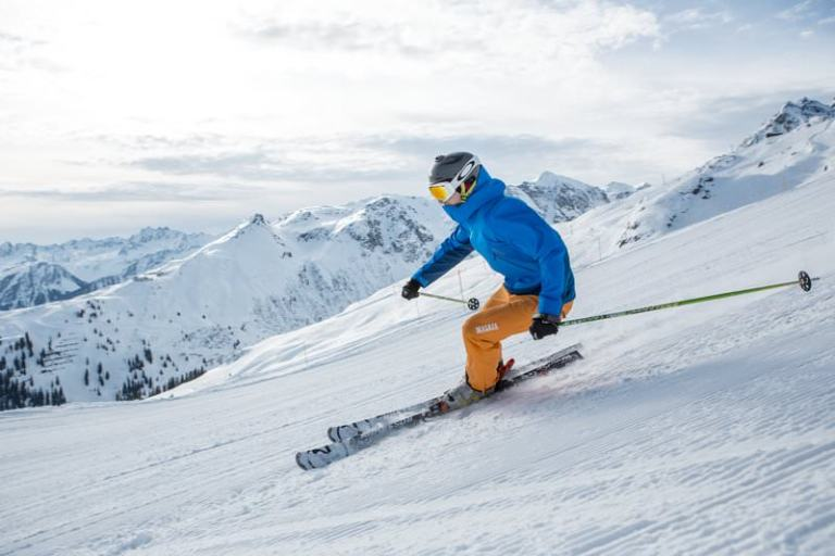 Skifahrer Montafon