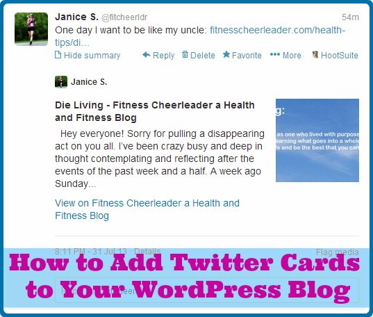 Have you tried Twitter cards? Here's my post on how to use them with WordPress