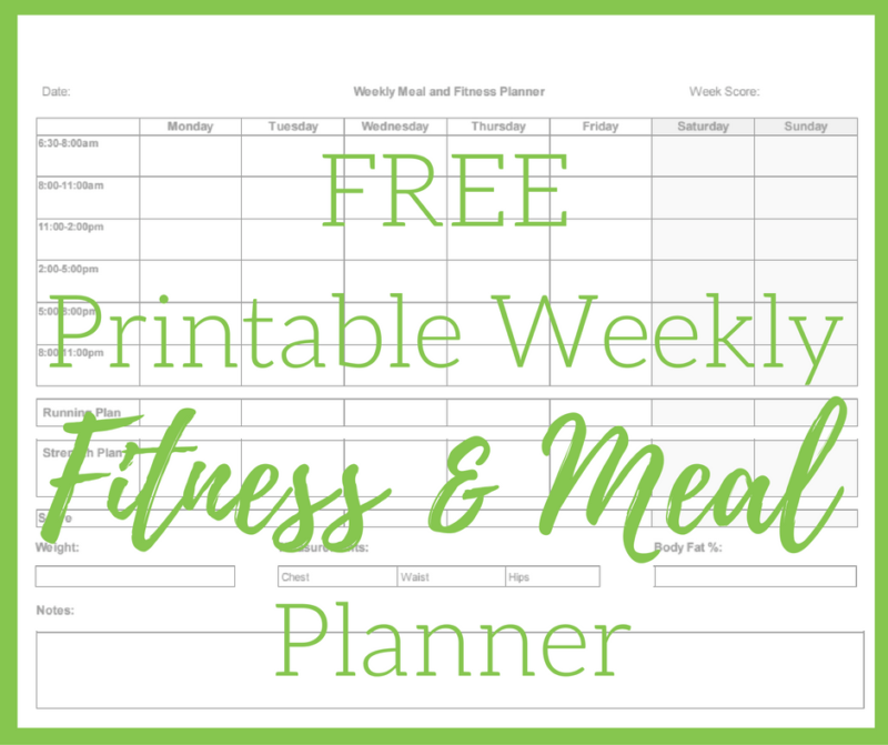 Printable Meal and Fitness Planner + Thinking Outloud