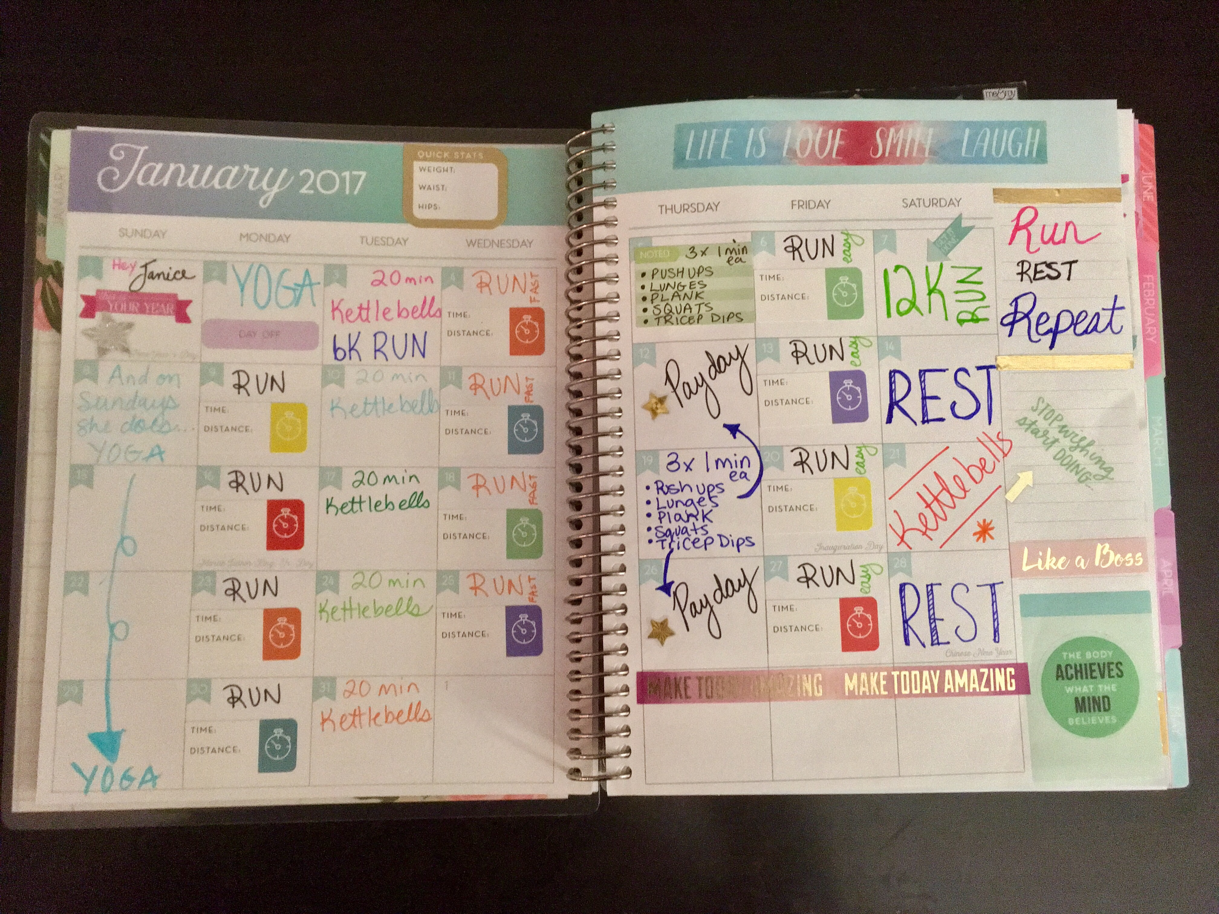 Planning for an ACTIVE 2017 with the Michael's Recollections® Creative Year Planner