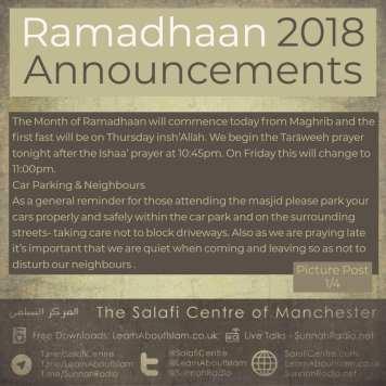 Ramadhaan 2018