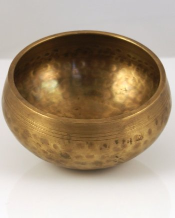 Singing Bowl 10cm Hammered Brass