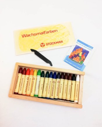 Stockmar Crayon Sticks Set of 16 in Wooden Box