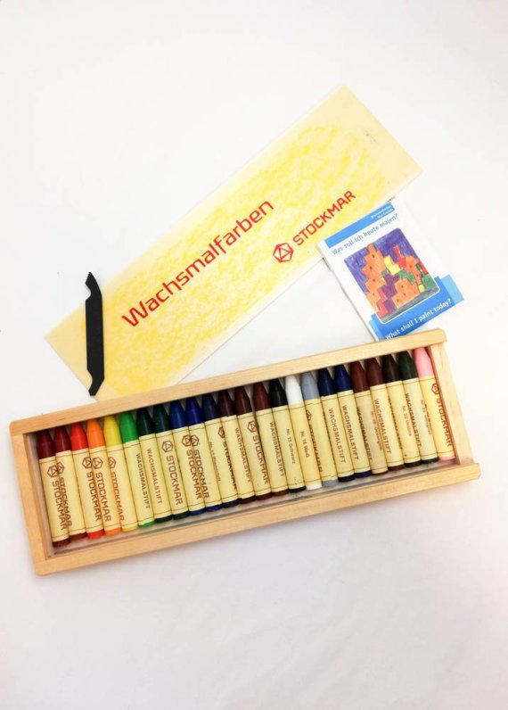 Stockmar Crayon Sticks Set of 24 in Wooden Box