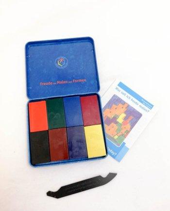 Stockmar Crayon Blocks Set of 8- Standard Assortment