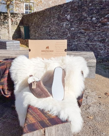 Shepherd Slipper Unisex Lina Henrik Oiled Antique, soft sole