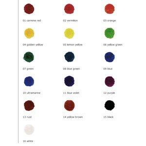 16 stick set colours