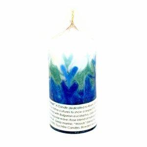 mother ocean pillar candle