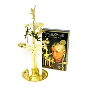 christmas angel chimes with four candles