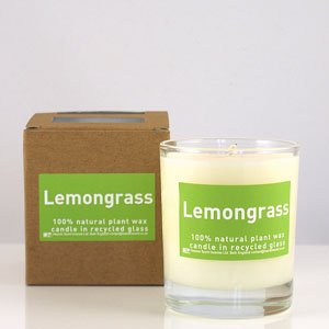 Heaven Scent Organic Candle in Lemongrass scent