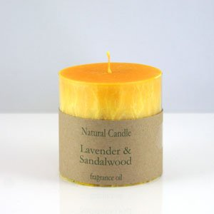 Lavender and Sandalwood Pillar Candle