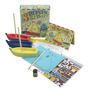 Three Boats in a Box Kit by Authentic Models