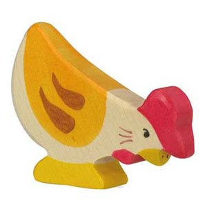 Holztiger Hen Pecking, wooden animal