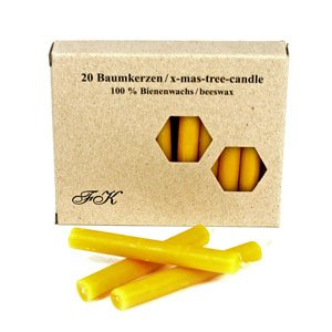 Beeswax Candles Box of 20