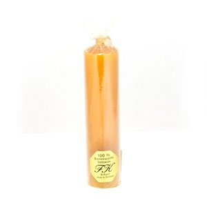 Beeswax rolled solid candle