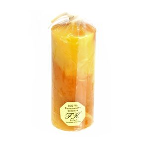 Solid Marbled Beeswax Candle - 120mm tall This candle measures 120mm tall by 50mm diameter. Made in Germany.