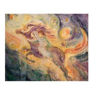 Flying With Unicorns Card by Annie B