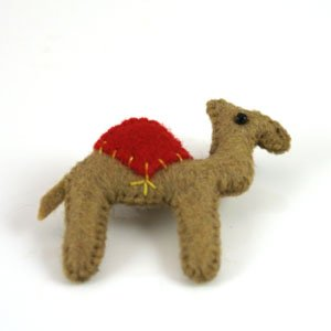 camel felt brooch