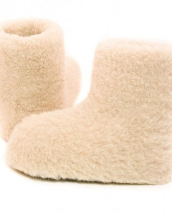 Yoko Standard Wool Booties - Natural
