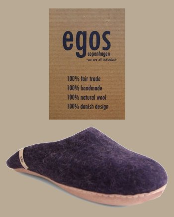 Egos Natural Blue Mule Slipper