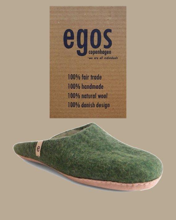 egos natural green mule slipper