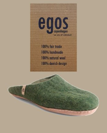egos natural green mule slipper