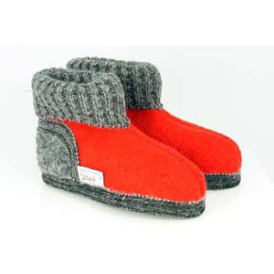 Wesenjak Children Austrian Slipper Boot - Red