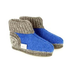 Wesenjak Children Austrian Slipper Boot - Azure