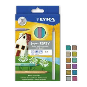 lyra super ferby metallic pencils set of 6