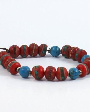 Red Yak Bead Bracelet