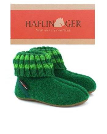 Haflinger Children's Slipper Boot Pablo - Emerald