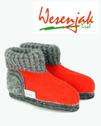 Wesenjak Children's Austrian Slipper Boot – Red