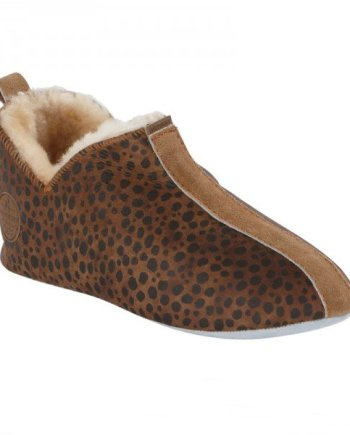 Shepherd Lina Soft Sole Sheepskin Slipper - Leopard