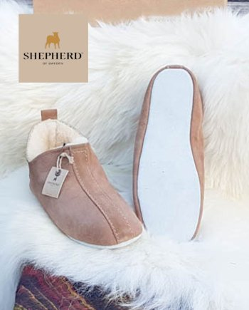 Shepherd Slipper Lina/Henrik Antique Cognac soft sole